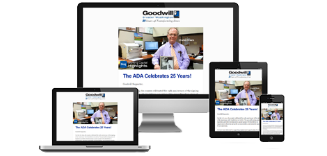 Sign-up for the DC Goodwill GoodNews E-newsletter