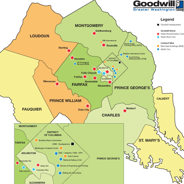 Goodwill of Greater Washington Service Area