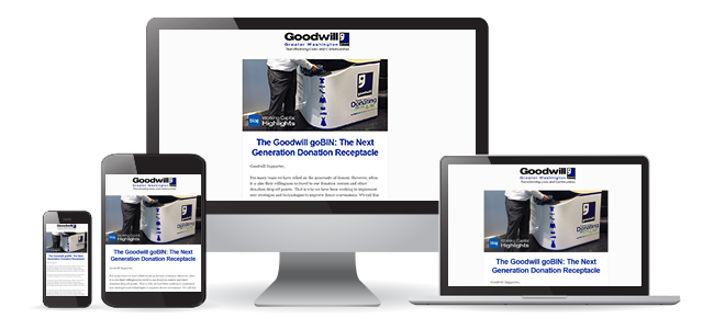 Sign-up for the Goodwill enewsletter