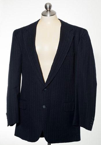 Fashion of Goodwill - Timeless Designer Classic Navy Pin Stripe Burberrys' Jacket