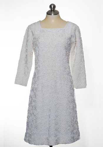 Fashion of Goodwill - All the Frills Floral Embossed Apollo Knits Dress