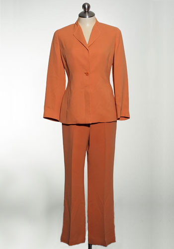 Fashion of Goodwill - Sweet Dreamsicle Orange Pant Suit Tan F Jay Brand