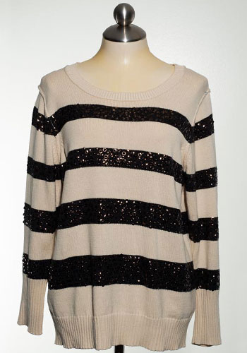 Fashion of Goodwill - Director's Cut Monochrome J Crew Sequined Striped Sweater