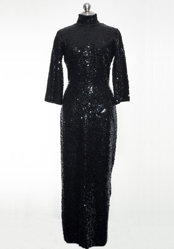 Fashion of Goodwill - Haute Modesty High-Neck Boutique Internationale Evening Gown