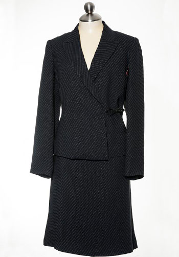 Fashion of Goodwill - Polished in Pinstripe Anne Klein Skirt Suit
