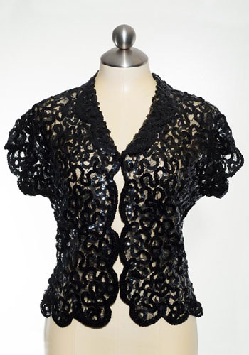 Fashion of Goodwill - Swirled in Sequins Short Sleeved Jacket