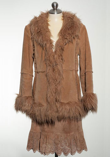 Fashion of Goodwill - Cowardly Lion Suede B. Moss Winter Jacket