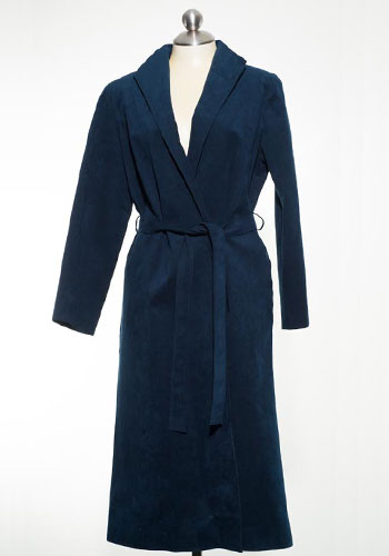 Fashion of Goodwill - Belted Blues Garfinckel's UltraSuede Trench Coat