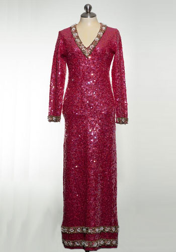 Fashion of Goodwill - Twinkle Me Pink Stunning Sequin Floor Length Boutique Internationale Gown