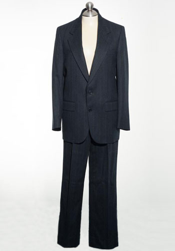 Fashion of Goodwill - Boardroom Broad Navy Pin Striped Lanvin Men's Suit
