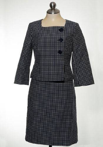 Fashion of Goodwill - Polka Dot Power Skirt Suit by Ann Taylor