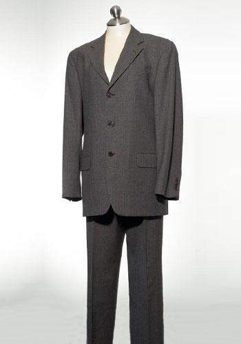 Fashion of Goodwill - Brawny Brown Designer Valentino Men's Suit