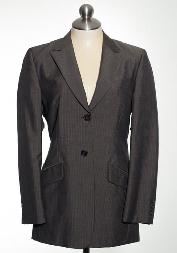 Fashion of Goodwill - Charming and In Charge Brown and Blue Women's Brooks Brother's Suit Jacket