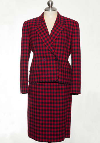 Fashion of Goodwill - Happening Houndstooth Liz Claiborne Skirt Suit