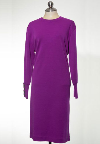 Fashion of Goodwill - Radiant Orchid Liz Claiborne Sweater Dress