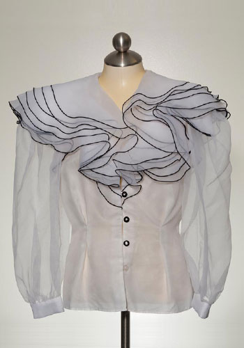 Fashion of Goodwill - All the Frills Cattiva by Maya Jornot Chiffon Blouse