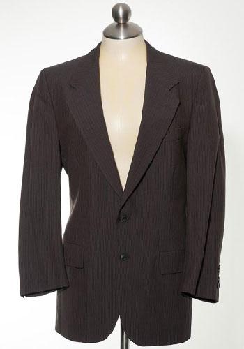 Fashion of Goodwill -Dapper (and Designer!) Dan Brown Pin Stripe Valentino Blazer