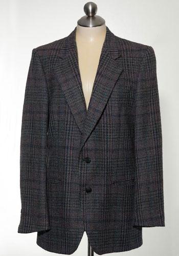 Fashion of Goodwill - Bookish Bravado Gray and Blue Pierre Cardin Jacket