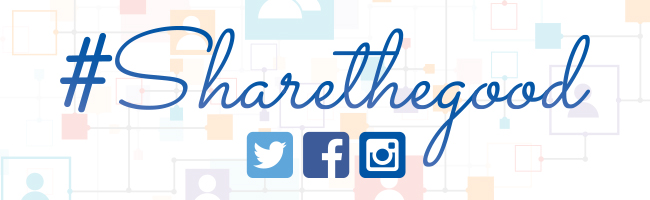 Tag your photos online with #sharethegood