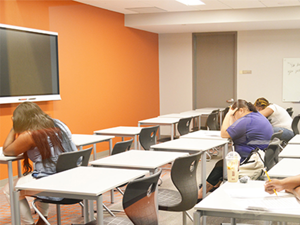 Potential Goodwill Excel Center Students Taking Entrance Exams