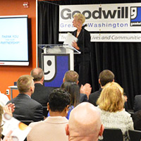 Catherine Meloy, Goodwill of Greater Washington President & CEO thanking partners and supporters for their support.