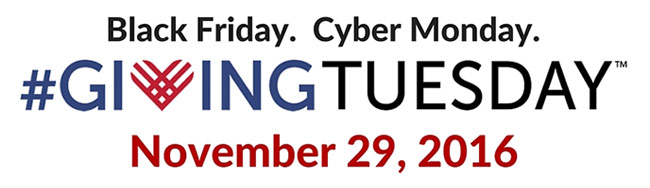 Save the Date: #GivingTuesday - November 29, 2016