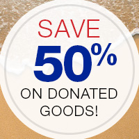 Save 50% on donated goods at Goodwill