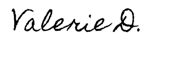 Faux Valerie D Signature