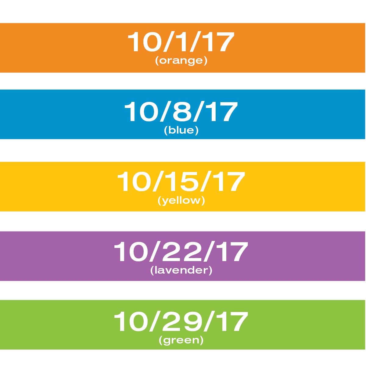 Color of the Week Calendar