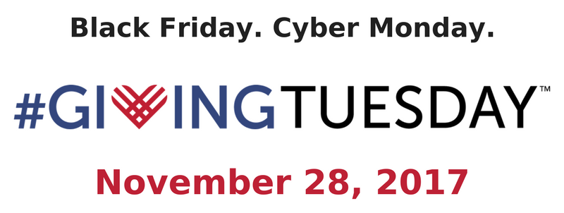 Save the Date: #GivingTuesday - November 28, 2017