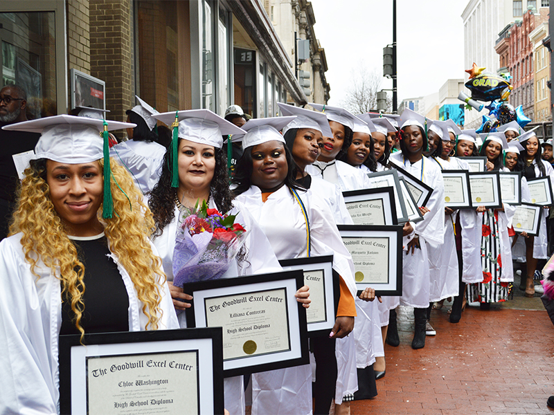 25 graduates from the Goodwill Excel Center
