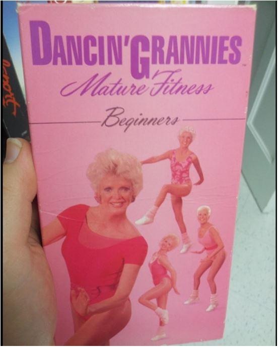 Dancing Grannies VHS fintess tape