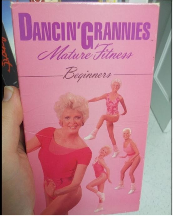 Dancing Grannies VHS fintess tape