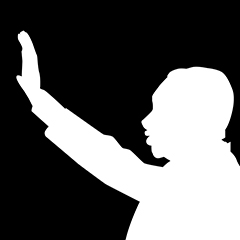 silhouette of Dr. Martin Luther King Jr.