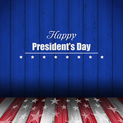 presidents day themed stock image