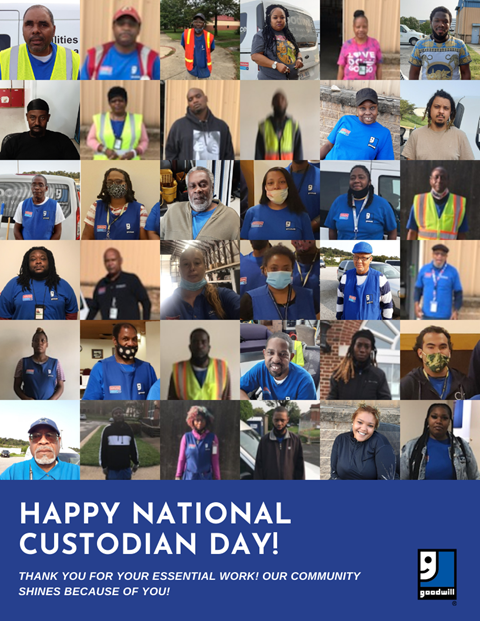Goodwill honored more than 200 of our own associates on National Custodial Worker's Day