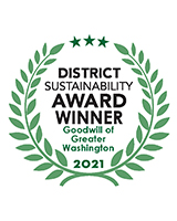 Goodwill of Greater Washington Voted People's Choice Award Winner at this year's DC Sustainability Awards