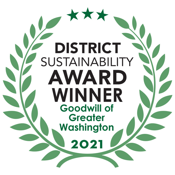 District Sustainability Award Winner Goodwill of Greater Washington